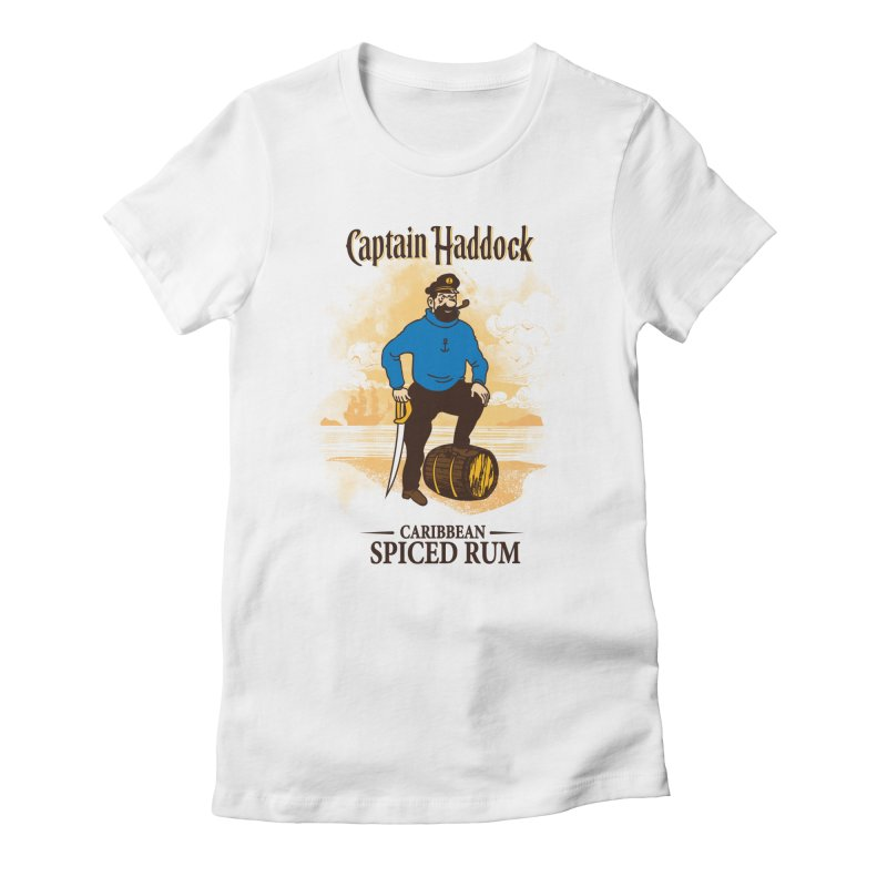 Captain Haddock Women's Fitted T-Shirt by Daletheskater
