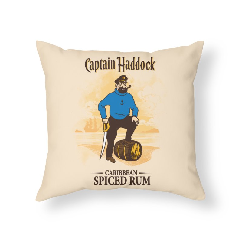 Captain Haddock Home Throw Pillow by Daletheskater