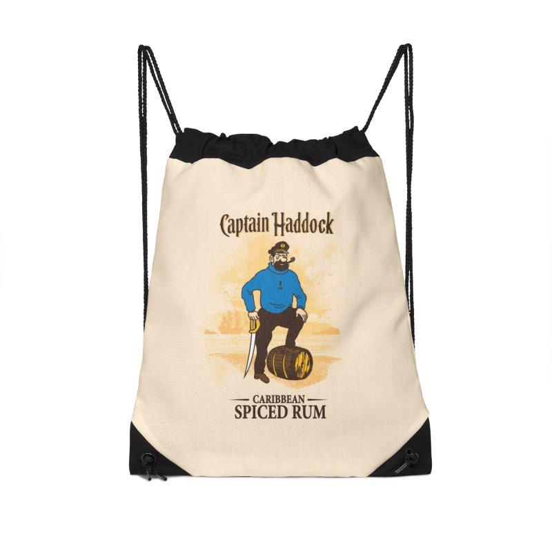 Captain Haddock Accessories Drawstring Bag Bag by Daletheskater