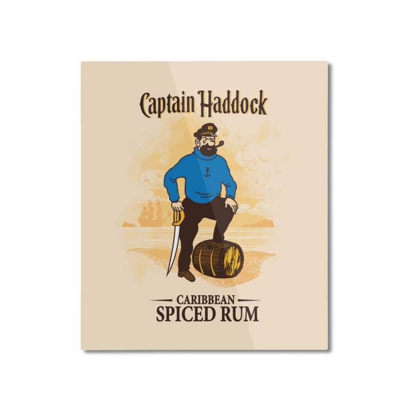 Captain Haddock Home Mounted Aluminum Print by Daletheskater