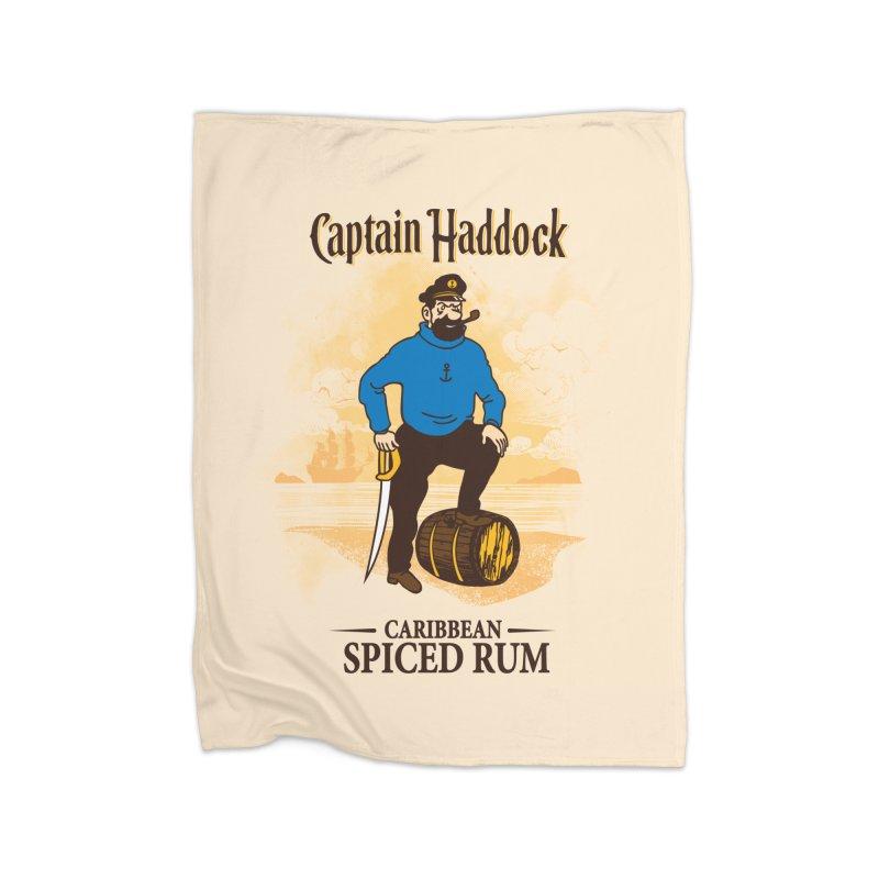 Captain Haddock Home Fleece Blanket Blanket by Daletheskater