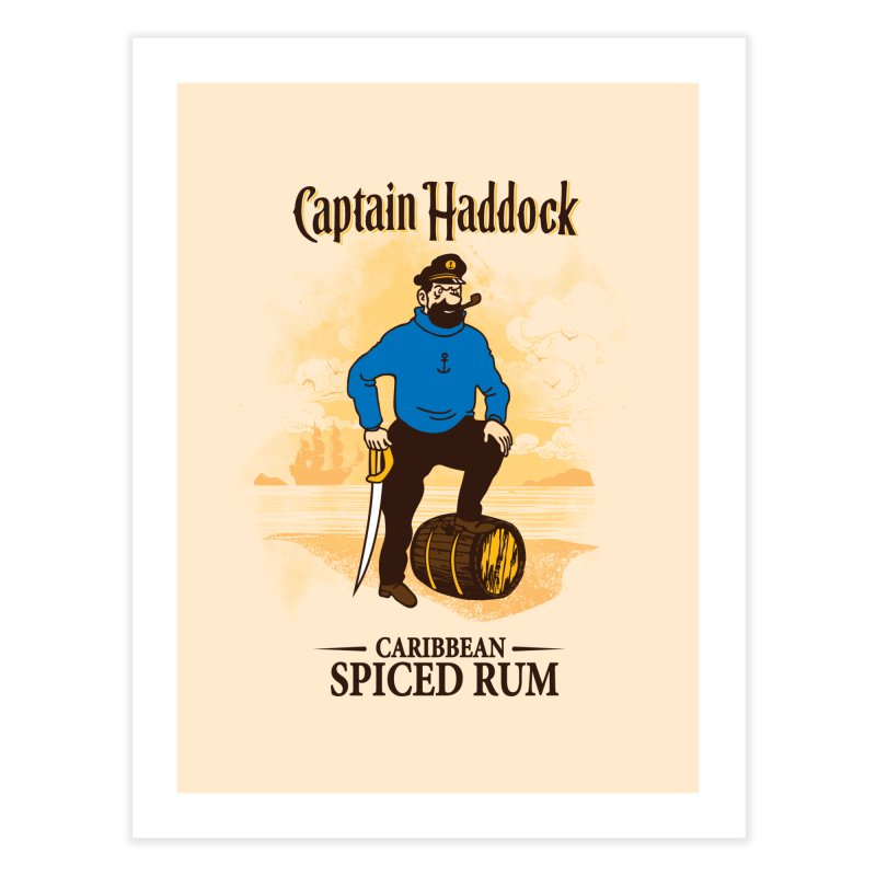 Captain Haddock Home Fine Art Print by Daletheskater