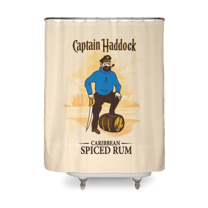 Captain Haddock Home Shower Curtain by Daletheskater