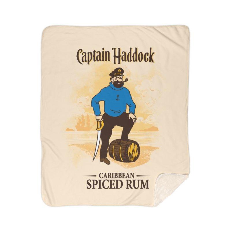 Captain Haddock Home Sherpa Blanket Blanket by Daletheskater