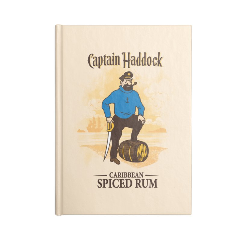 Captain Haddock Accessories Lined Journal Notebook by Daletheskater