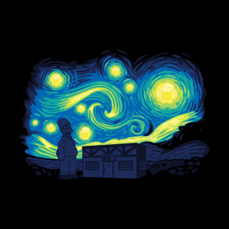Starry Blur Men's T-Shirt by Daletheskater