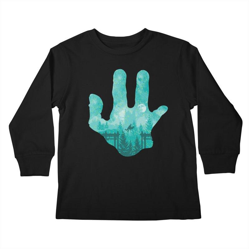 Abe's Adventure Kids Longsleeve T-Shirt by Daletheskater