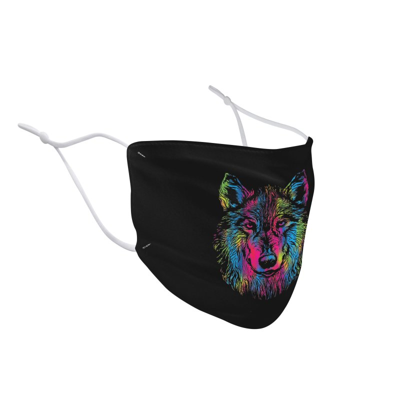 Vibrant Wolf Accessories Face Mask by Daletheskater