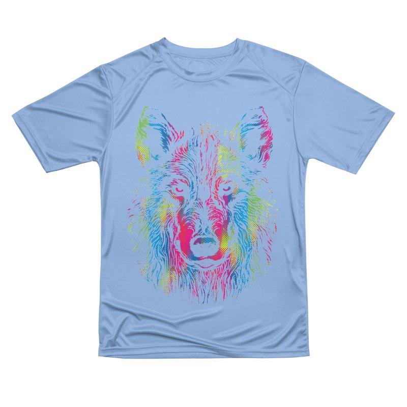 Vibrant Wolf Men's T-Shirt by Daletheskater