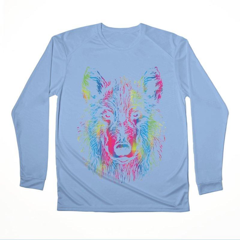 Vibrant Wolf Women's Longsleeve T-Shirt by Daletheskater