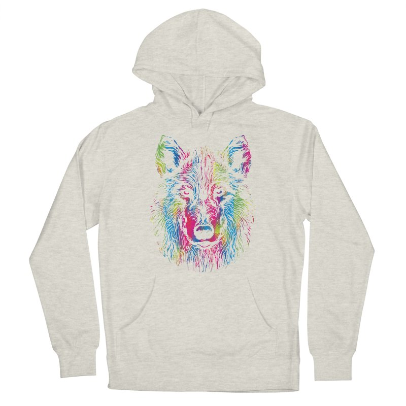Vibrant Wolf Women's Pullover Hoody by Daletheskater