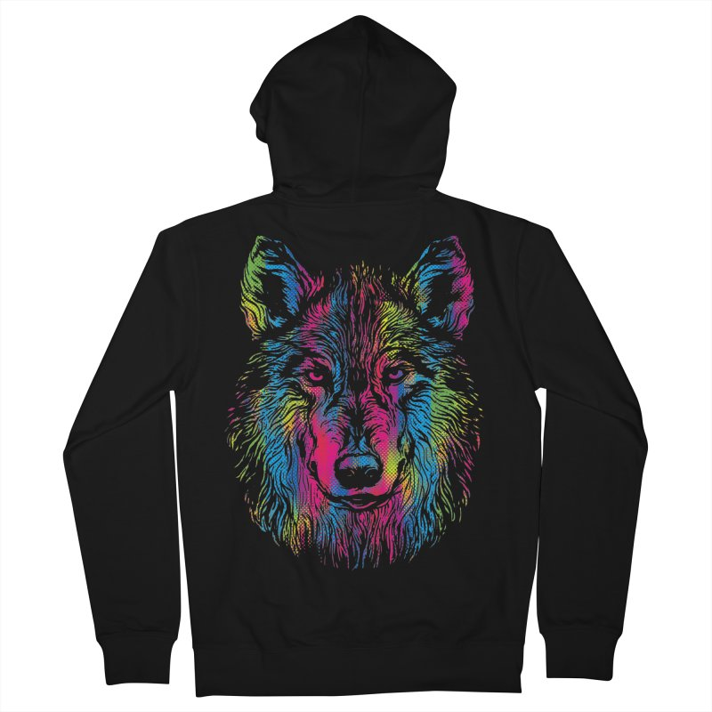 Vibrant Wolf Women's Zip-Up Hoody by Daletheskater