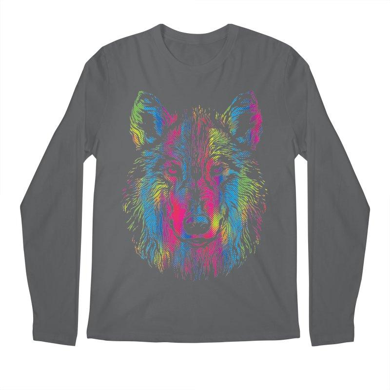 Vibrant Wolf Men's Longsleeve T-Shirt by Daletheskater