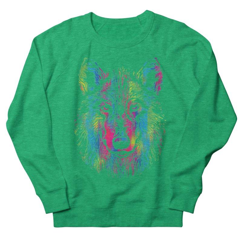Vibrant Wolf Women's Sweatshirt by Daletheskater