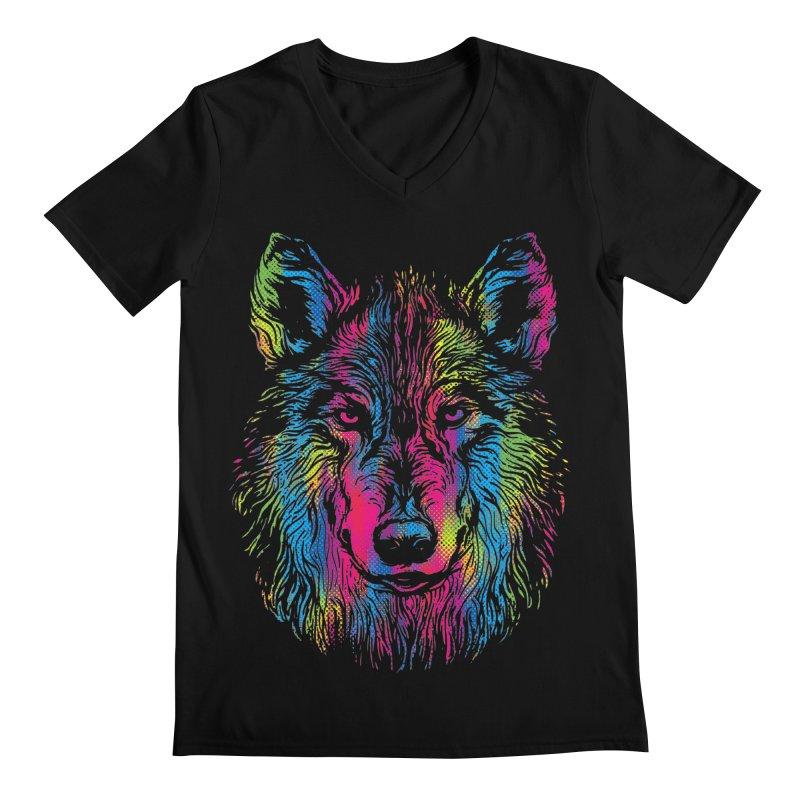 Vibrant Wolf Men's V-Neck by Daletheskater
