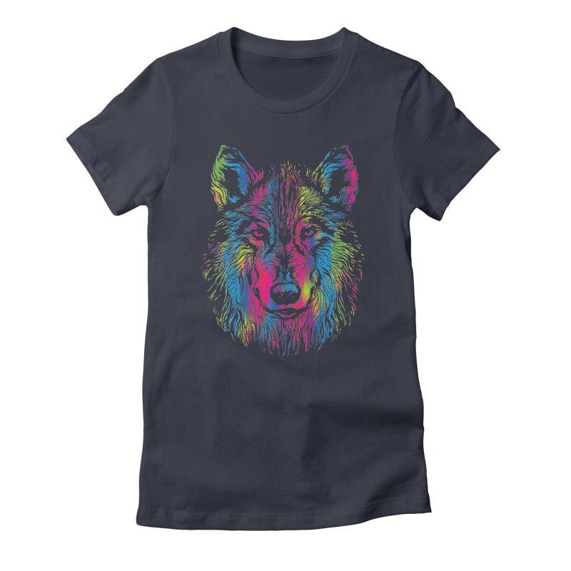 Vibrant Wolf Women's T-Shirt by Daletheskater