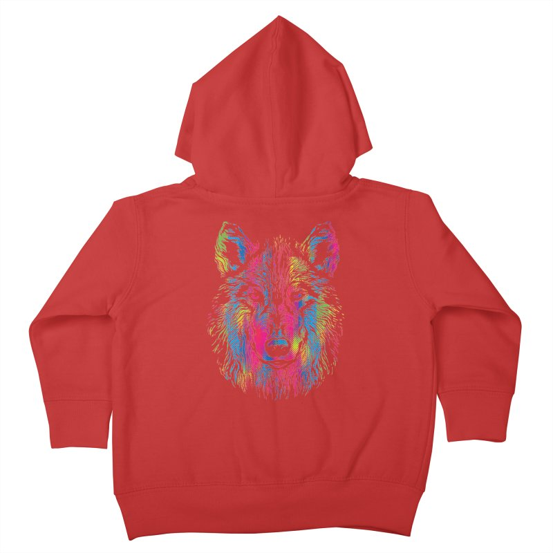 Vibrant Wolf Kids Toddler Zip-Up Hoody by Daletheskater