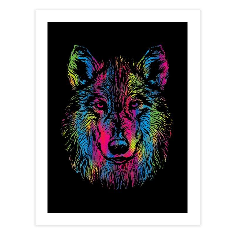 Vibrant Wolf Home Fine Art Print by Daletheskater