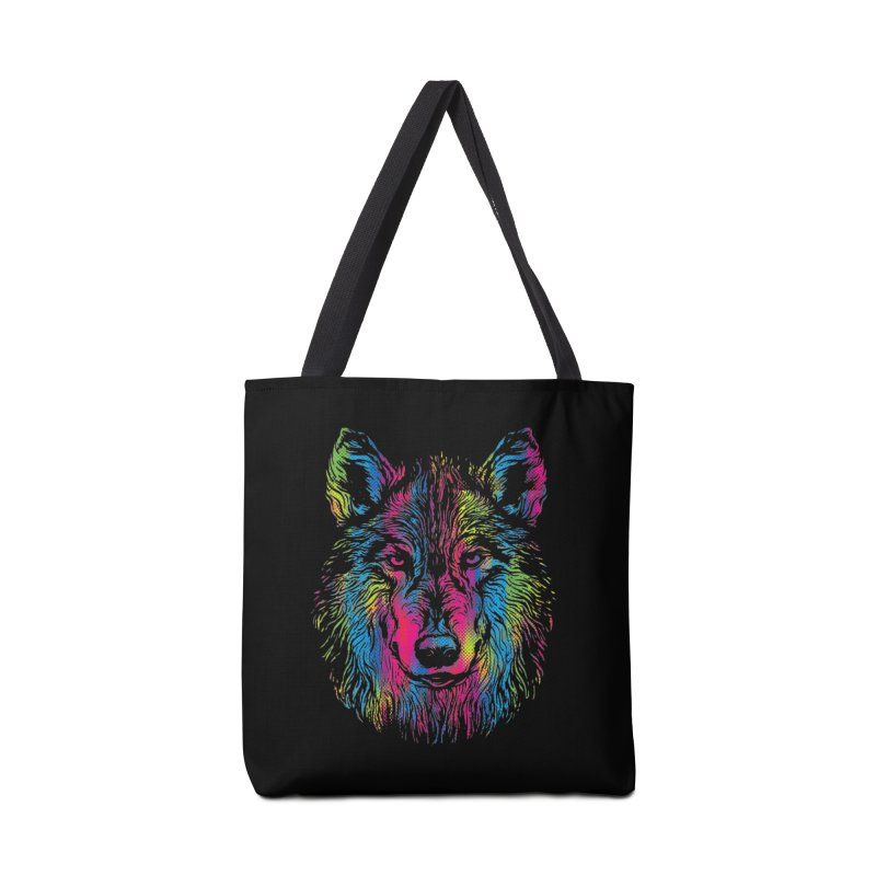 Vibrant Wolf Accessories Bag by Daletheskater