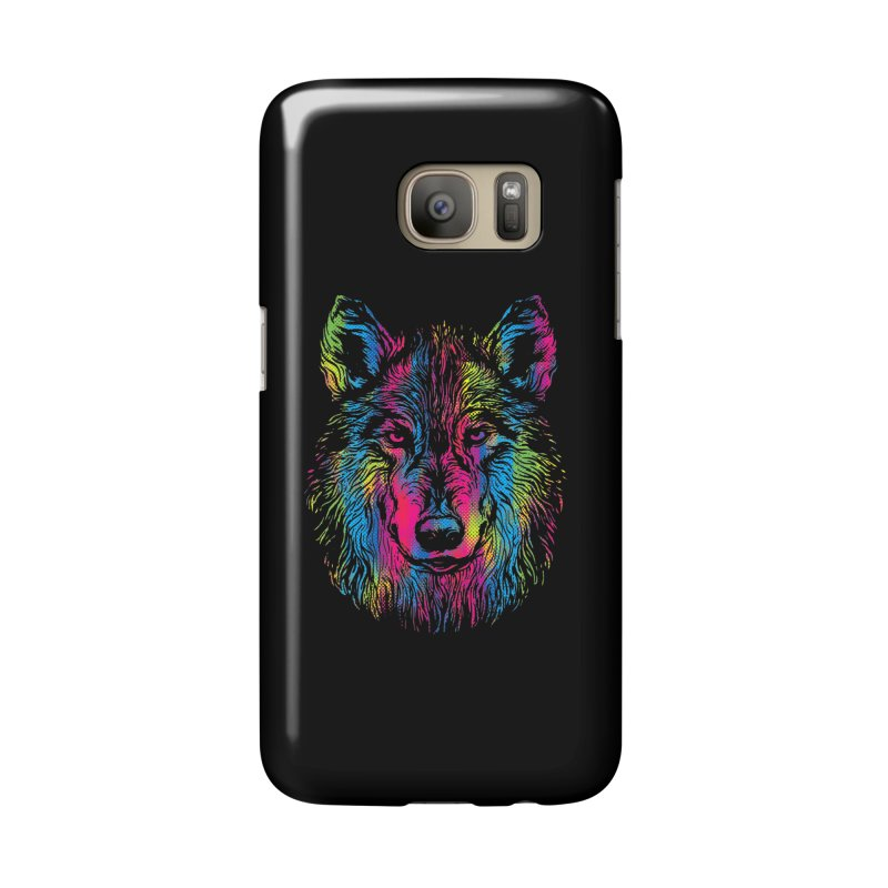 Vibrant Wolf Accessories Phone Case by Daletheskater