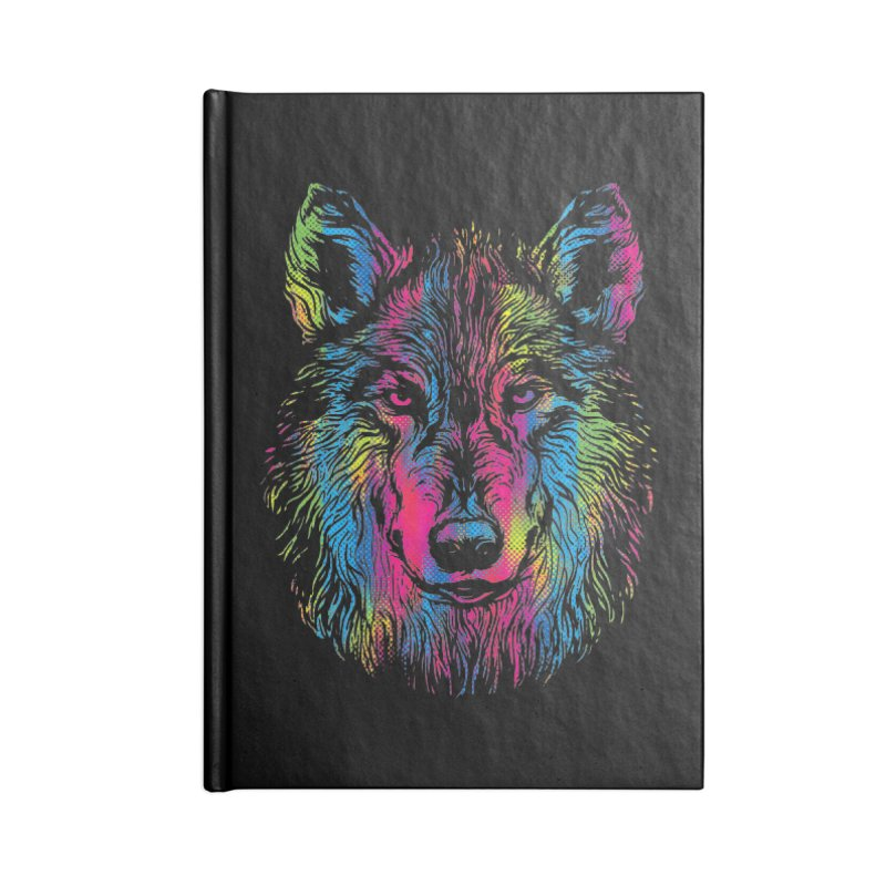 Vibrant Wolf Accessories Notebook by Daletheskater
