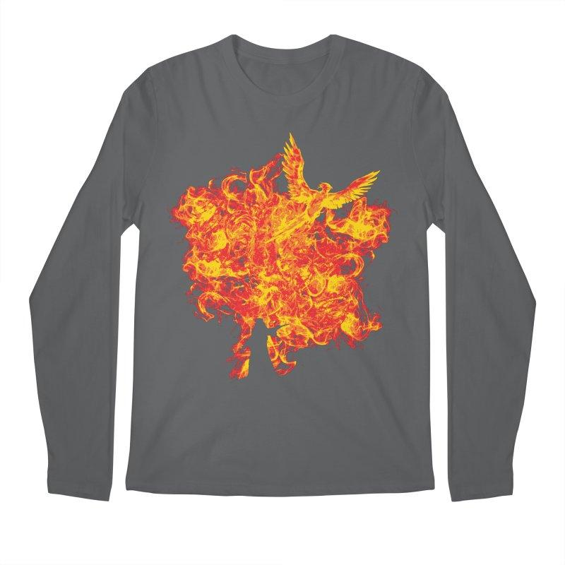 Reborn Phoenix Men's Longsleeve T-Shirt by Daletheskater