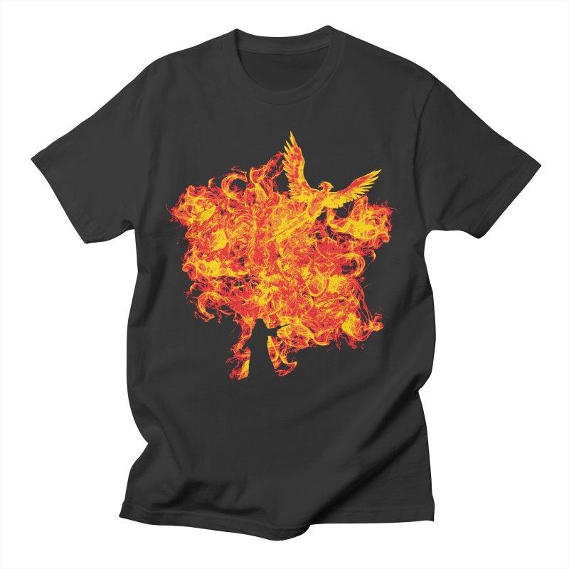 Reborn Phoenix Men's T-Shirt by Daletheskater