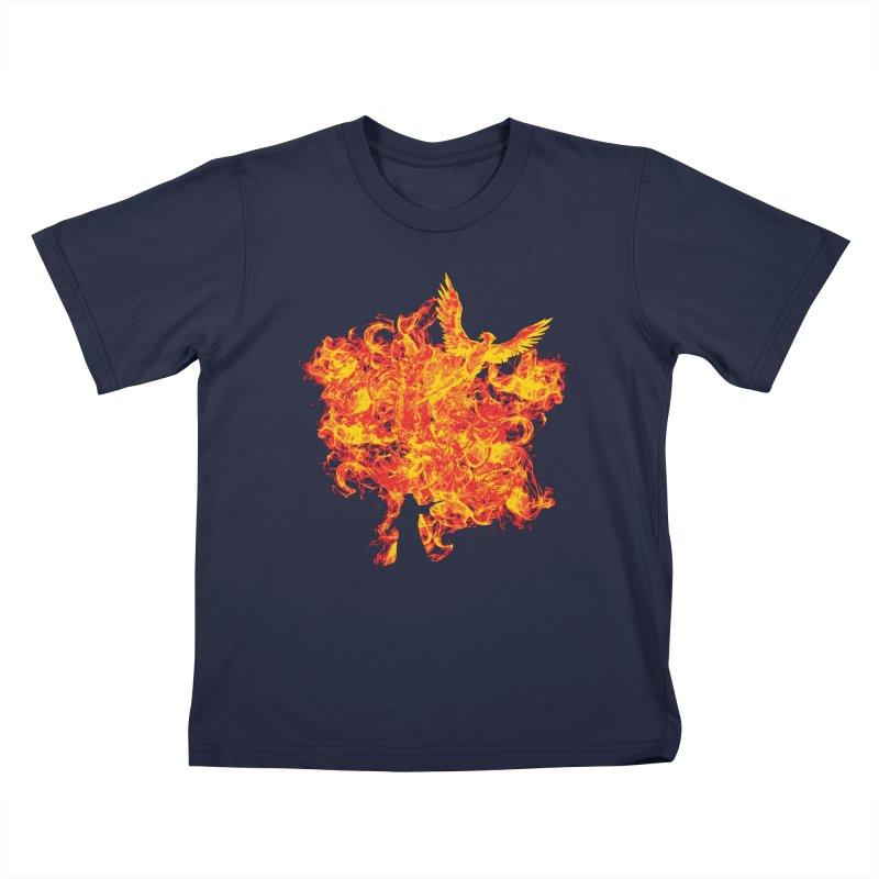 Reborn Phoenix Kids T-Shirt by Daletheskater