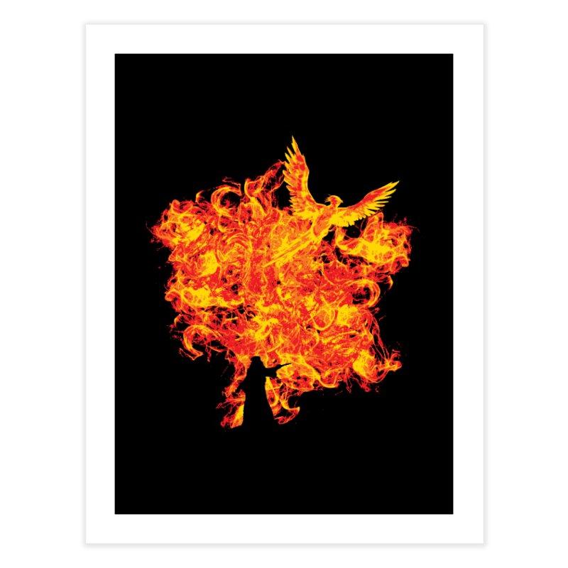 Reborn Phoenix Home Fine Art Print by Daletheskater