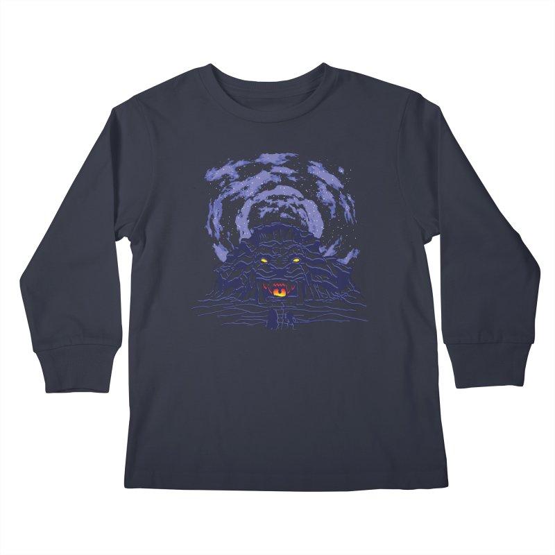 Mufasa's Cave Kids Longsleeve T-Shirt by Daletheskater