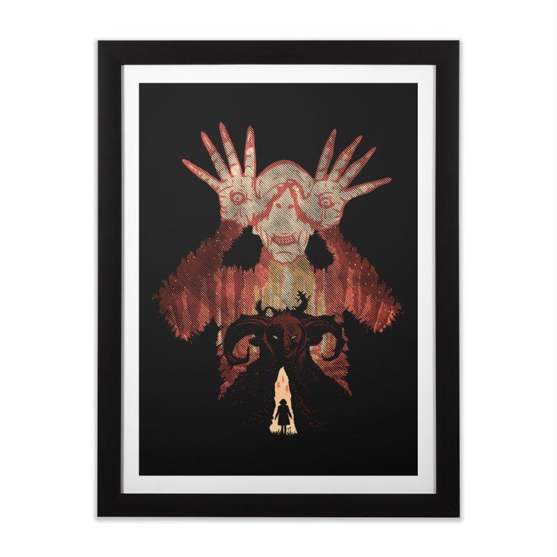 Horrific Tale Home Framed Fine Art Print by Daletheskater