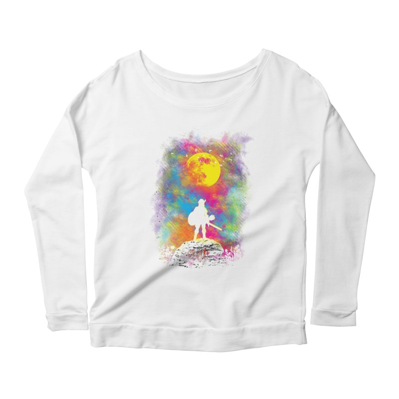Wild World Women's Longsleeve Scoopneck  by Daletheskater