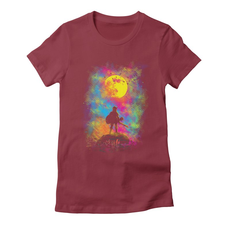 Wild World Women's Fitted T-Shirt by Daletheskater