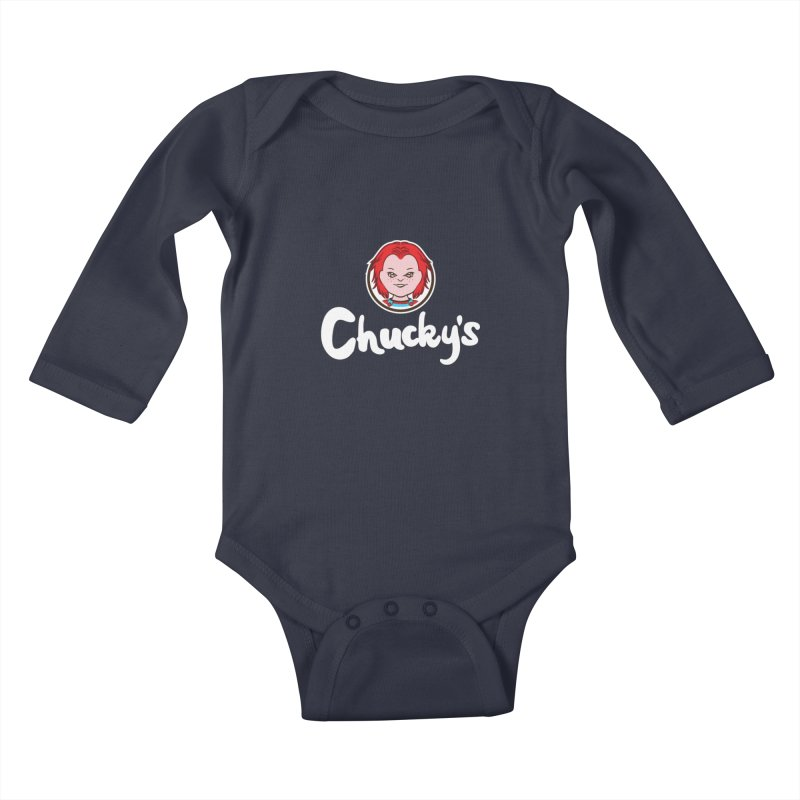 Wanna Eat? Kids Baby Longsleeve Bodysuit by Daletheskater
