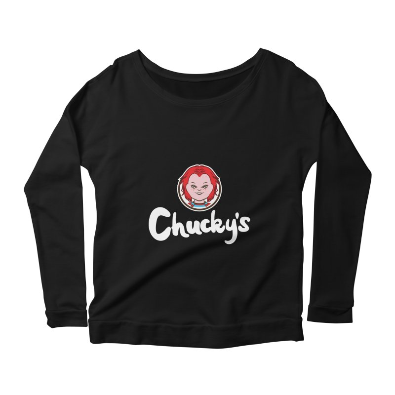 Wanna Eat? Women's Longsleeve Scoopneck  by Daletheskater