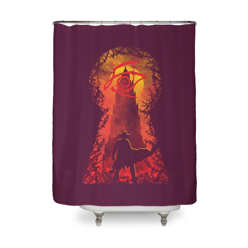 Mid-World Home Shower Curtain by Daletheskater