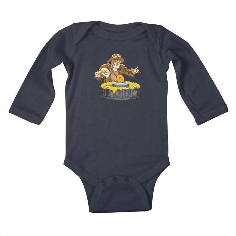 Jurassic Doctor Kids Baby Longsleeve Bodysuit by Daletheskater