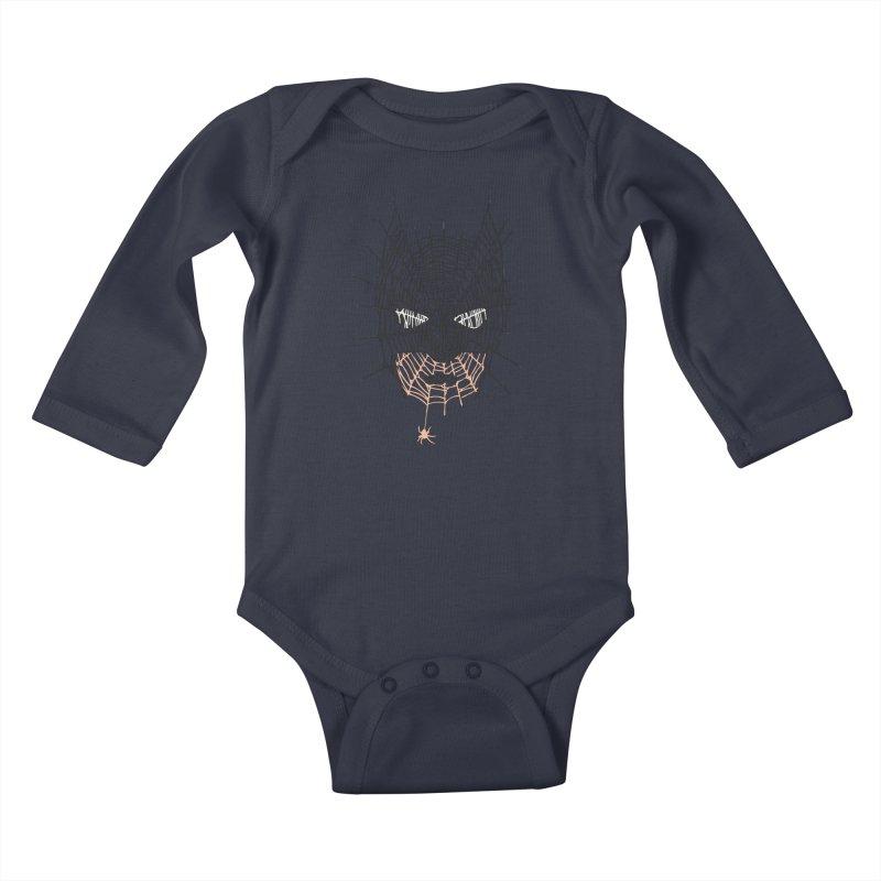 Bat Web Kids Baby Longsleeve Bodysuit by Daletheskater