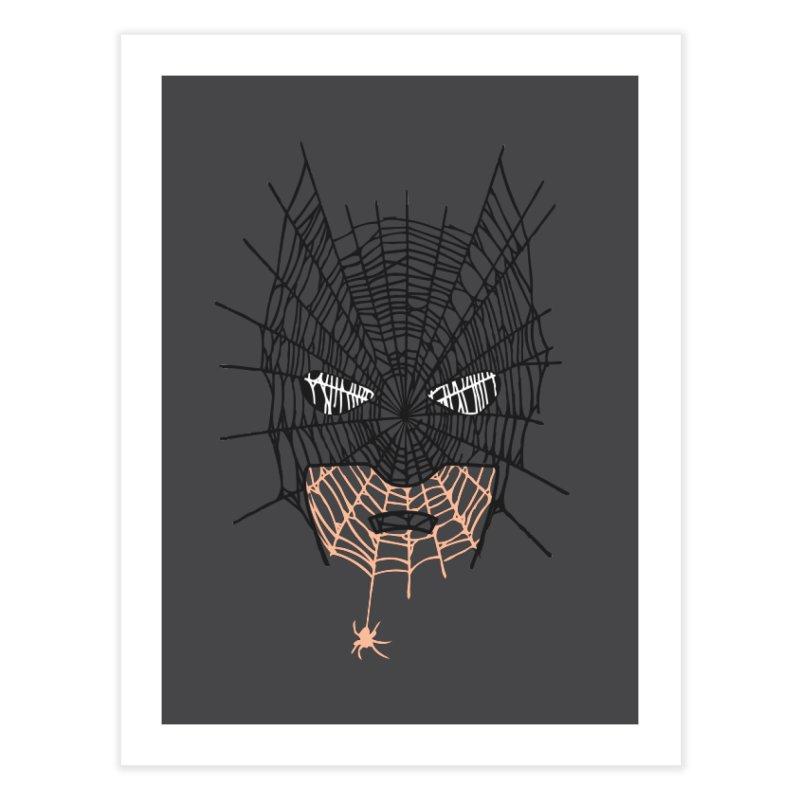 Bat Web Home Fine Art Print by Daletheskater