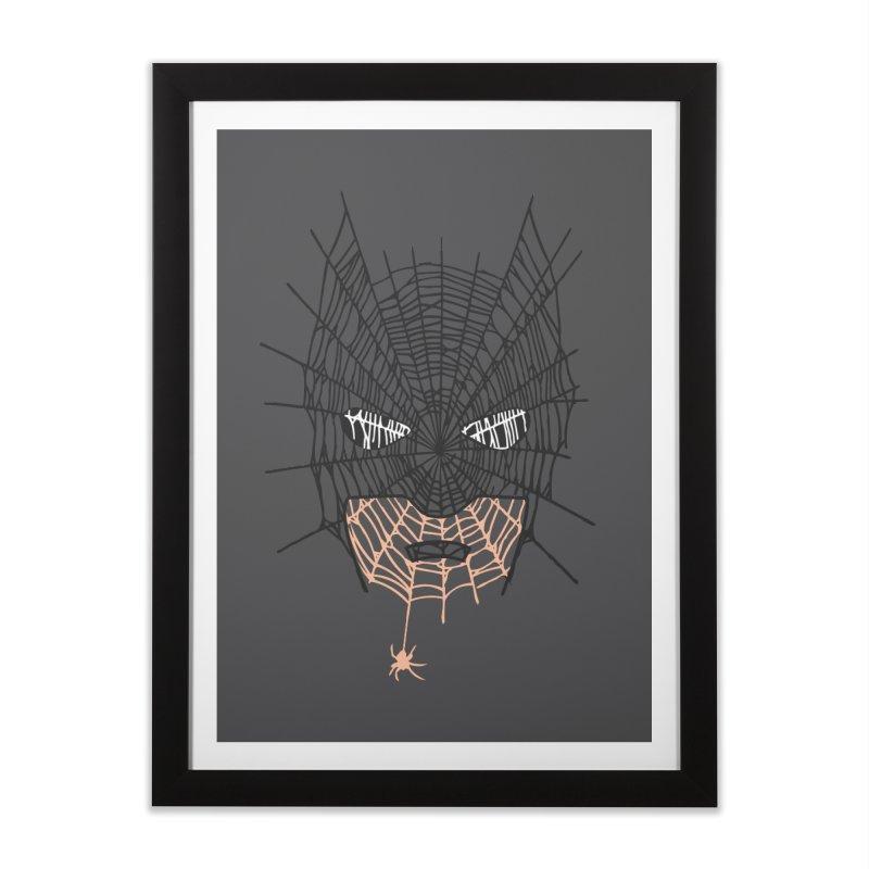 Bat Web Home Framed Fine Art Print by Daletheskater