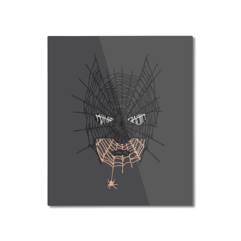 Bat Web Home Mounted Aluminum Print by Daletheskater