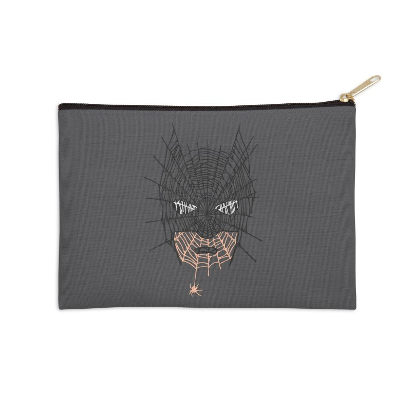 Bat Web Accessories Zip Pouch by Daletheskater