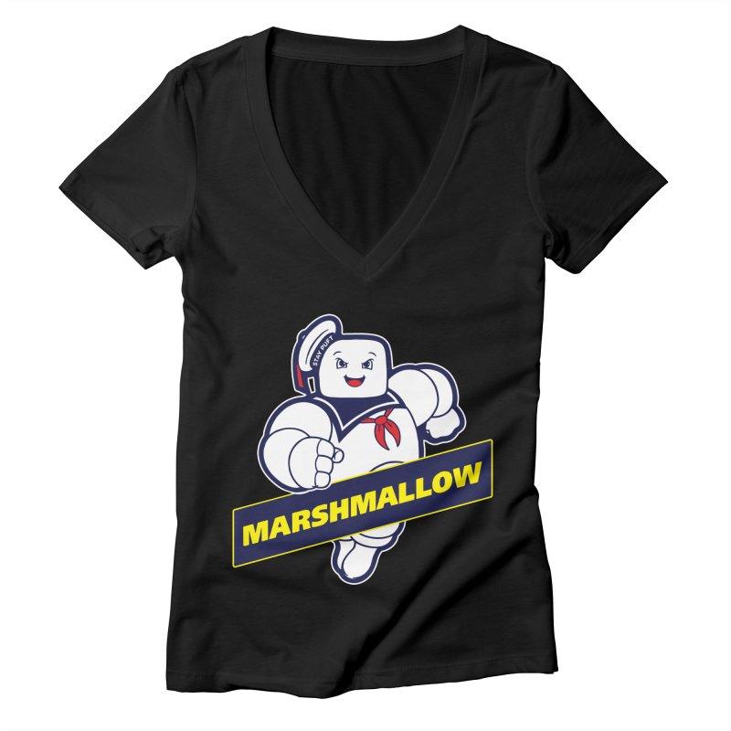 Marshmallow Women's V-Neck by Daletheskater
