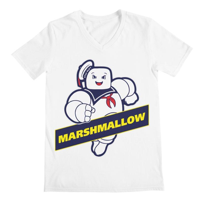 Marshmallow Men's V-Neck by Daletheskater
