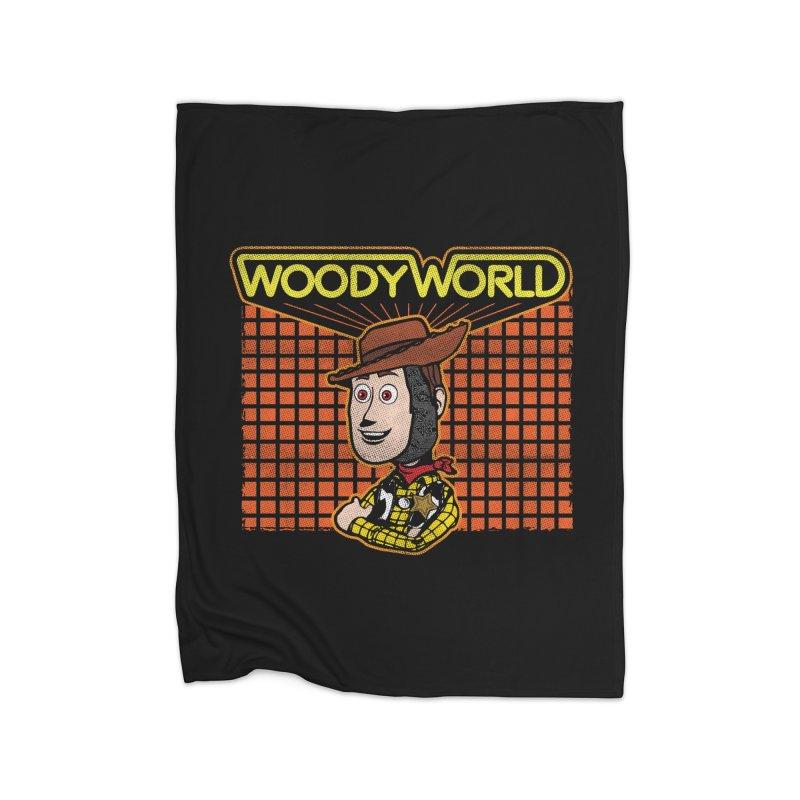 Woodyworld Home Blanket by Daletheskater