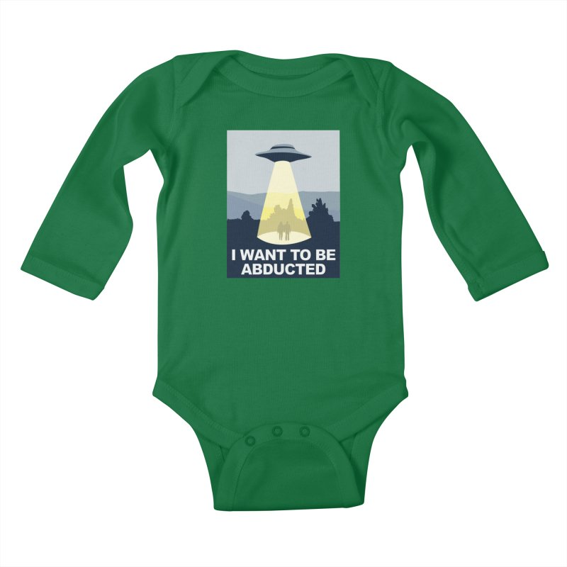 Abducted Kids Baby Longsleeve Bodysuit by Daletheskater