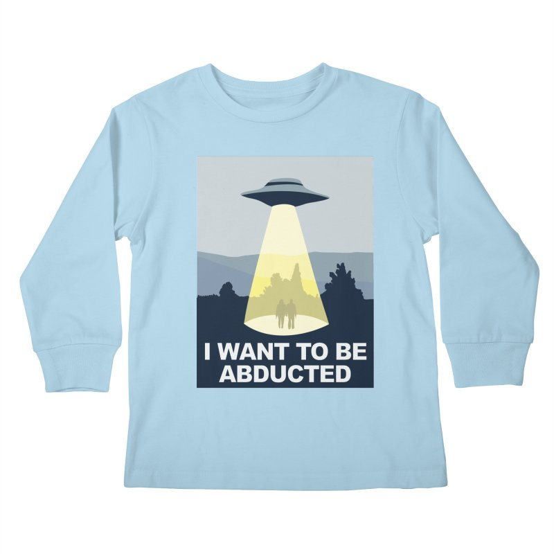 Abducted Kids Longsleeve T-Shirt by Daletheskater