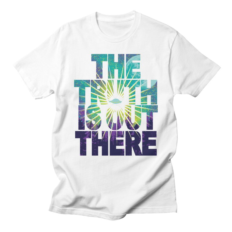 Seek The Truth in Men's Regular T-Shirt White by Daletheskater