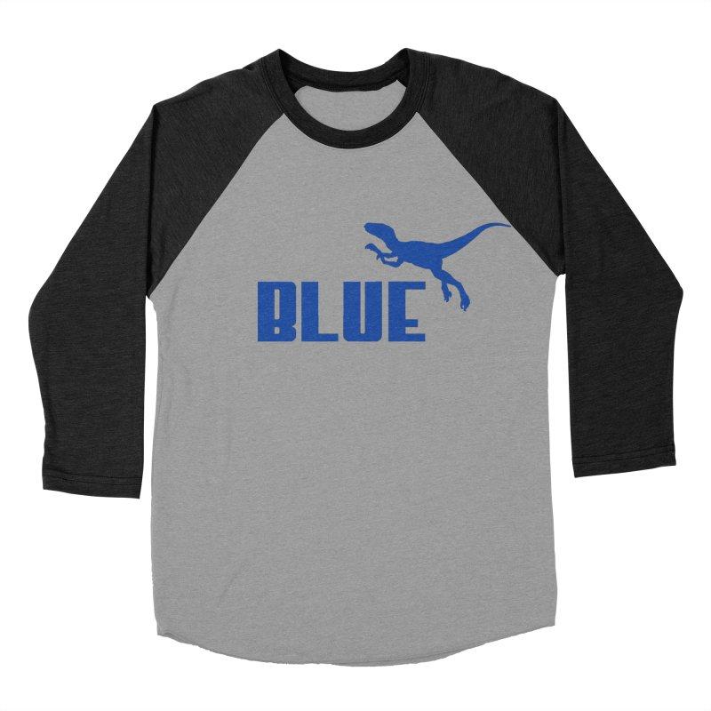 Blue Men's Baseball Triblend T-Shirt by Daletheskater