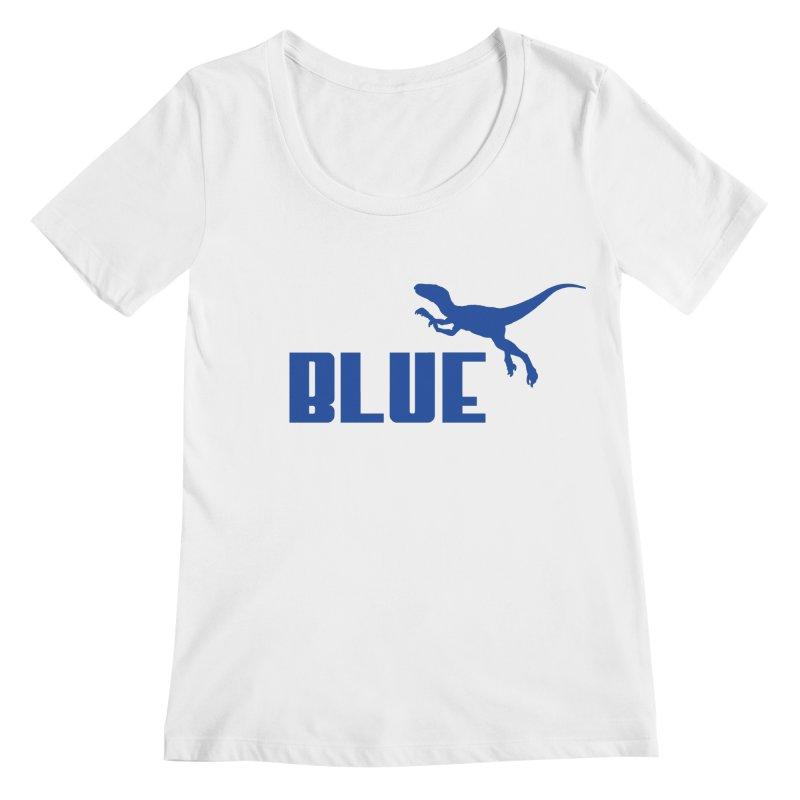 Blue Women's Scoopneck by Daletheskater